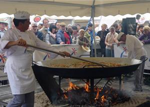 Paella Gigante Galbis preparación